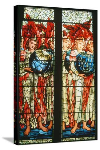 Angels of Creation: the Third and Fourth Days by Sir Edward Burne-Jones (1833-98)--Stretched Canvas Print