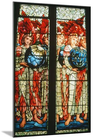 Angels of Creation: the Third and Fourth Days by Sir Edward Burne-Jones (1833-98)--Mounted Photographic Print