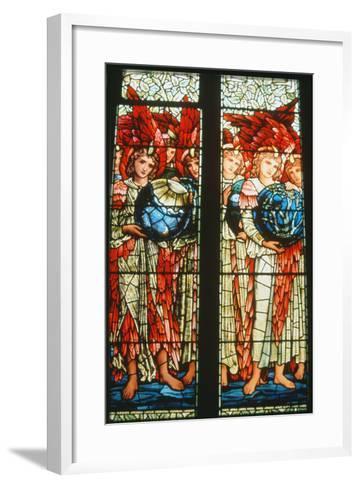 Angels of Creation: the Third and Fourth Days by Sir Edward Burne-Jones (1833-98)--Framed Art Print