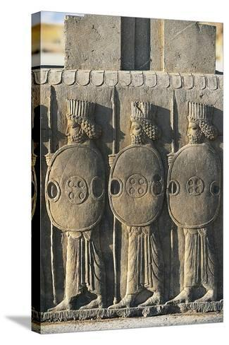 Bas-Relief Depicting Persian Guards--Stretched Canvas Print