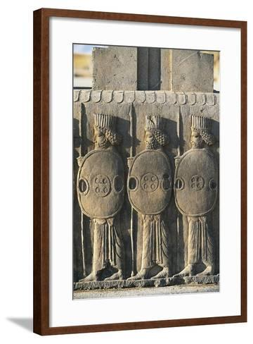 Bas-Relief Depicting Persian Guards--Framed Art Print