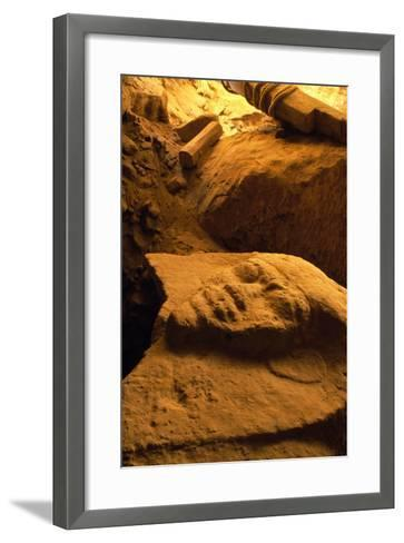 Bas-Relief Found During Excavations in Tomb of Ba Disit--Framed Art Print