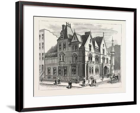 Architectural Progress of New York: Residence of Frederick W. Stevens--Framed Art Print