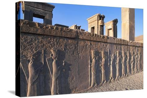 Bas-Relief of Persian Guards--Stretched Canvas Print