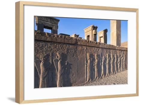 Bas-Relief of Persian Guards--Framed Art Print
