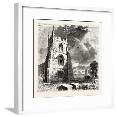Bangor Cathedral. Bangor Cathedral Is an Ancient Place of Christian Worship Situated in Bangor--Framed Art Print
