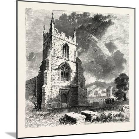 Bangor Cathedral. Bangor Cathedral Is an Ancient Place of Christian Worship Situated in Bangor--Mounted Giclee Print