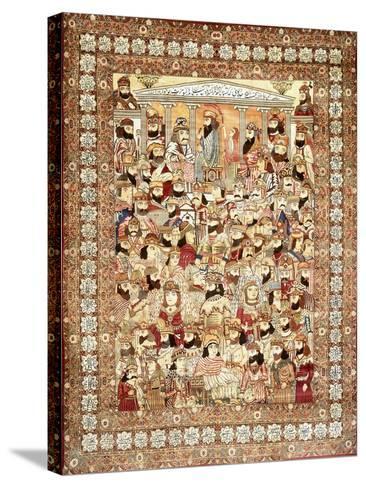 An Antique Kirman Masha'Ir Carpet--Stretched Canvas Print