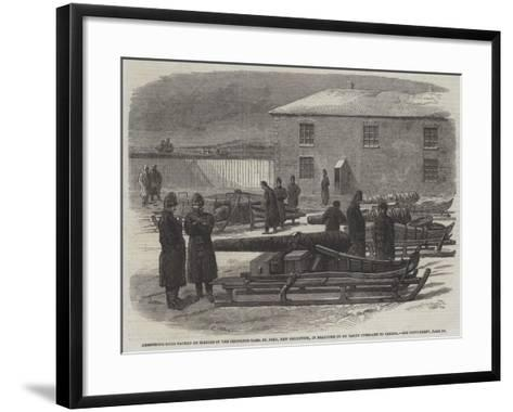 Armstrong Guns Packed on Sleighs in the Ordnance-Yard--Framed Art Print
