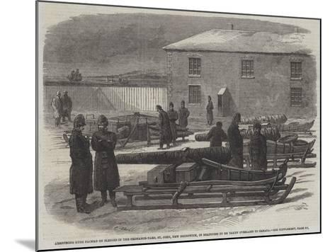 Armstrong Guns Packed on Sleighs in the Ordnance-Yard--Mounted Giclee Print