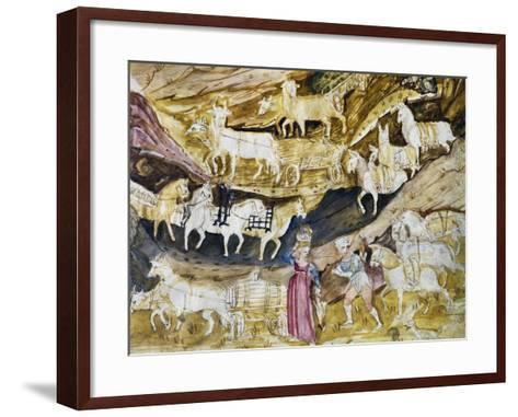 Agricultural Produce from Fiefdoms of Gambara and Martinengo Brought Down from Mountains to Markets--Framed Art Print
