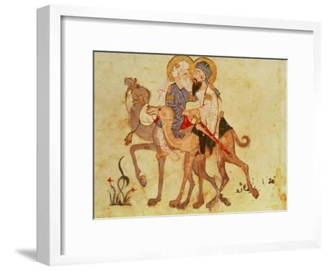 Arab 3929 F.122 Farewells of Abu-Zayd and Al-Harith before the Return to Mecca--Framed Art Print