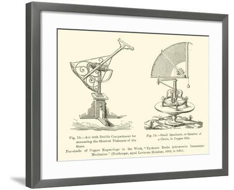 Arc with Double Compartment for Measuring the Shortest Distances of the Stars--Framed Art Print