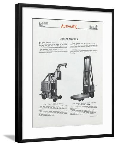 Automatic Transportation Company's Special Models of Automatic Units--Framed Art Print
