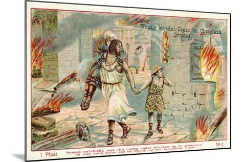 Aeneas Flees the Burning City of Troy--Mounted Giclee Print