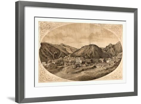 Bird's Eye View of Black Hawk Point--Framed Art Print
