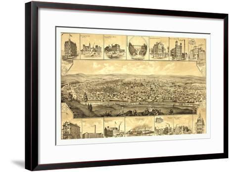 Bird's Eye View of Paterson--Framed Art Print