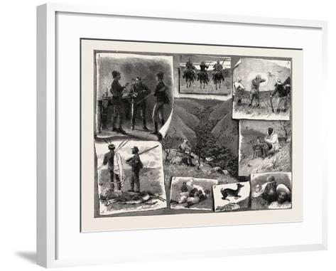 Buck Hunting at the Cape--Framed Art Print