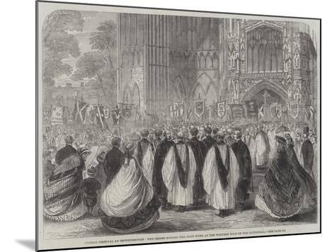 Choral Festival at Peterborough--Mounted Giclee Print