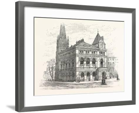 Building the Long Island Historical Society. from Sketch by C. Keetels--Framed Art Print