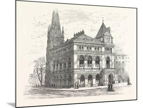 Building the Long Island Historical Society. from Sketch by C. Keetels--Mounted Giclee Print