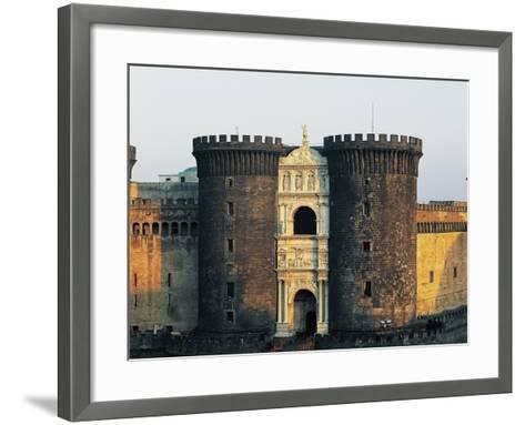 Central Towers and Triumphal Arch of Alfonso the Battler--Framed Art Print