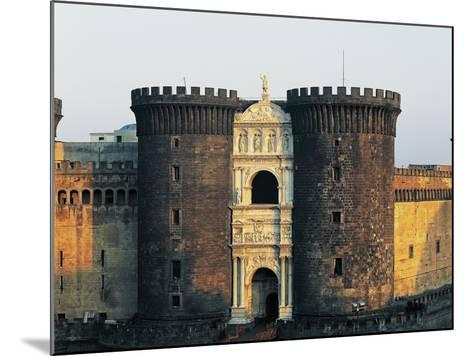 Central Towers and Triumphal Arch of Alfonso the Battler--Mounted Photographic Print