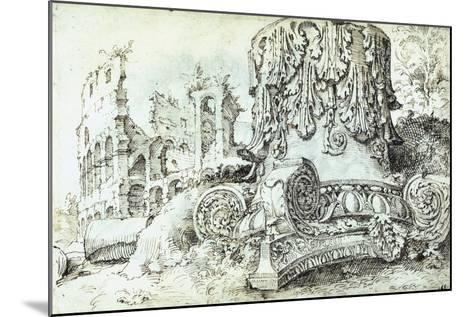Capital with Colosseum in Background--Mounted Giclee Print