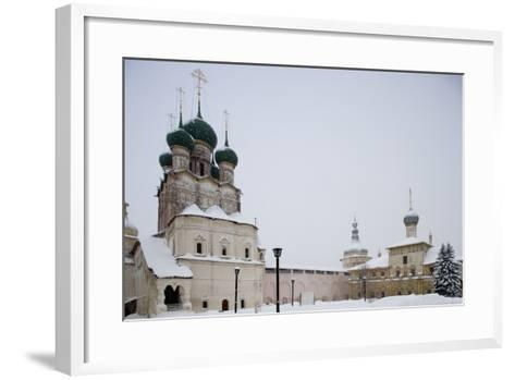 Cathedral of Assumption (16th Century) at Kremlin (12th Century)--Framed Art Print