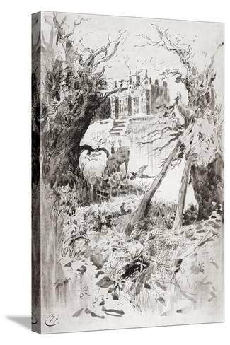 Bleak House. Illustration by Harry Furniss for the Charles Dickens Novel Bleak House--Stretched Canvas Print