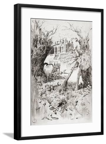 Bleak House. Illustration by Harry Furniss for the Charles Dickens Novel Bleak House--Framed Art Print