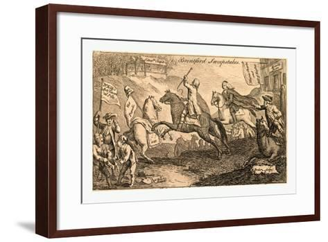 Brentford Sweepstakes. All Coursers the First Heat with Vigour Run. But 'Tis with Whip and Spur the--Framed Art Print