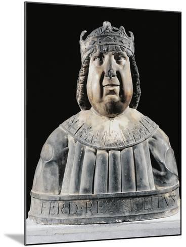 Bust of Ferdinand I (Ferrante) of Aragon (Valencia--Mounted Giclee Print