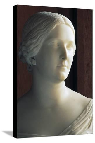 Bust of J Stephanie Von Baden (1813-1900) Symbolizing Season of Autumn--Stretched Canvas Print