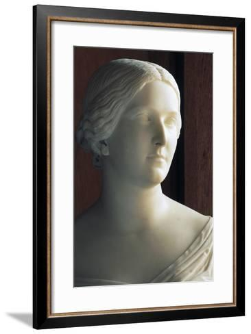 Bust of J Stephanie Von Baden (1813-1900) Symbolizing Season of Autumn--Framed Art Print