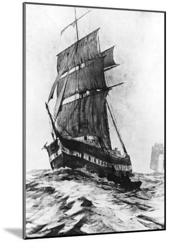 Brigantine Mary Celeste--Mounted Giclee Print