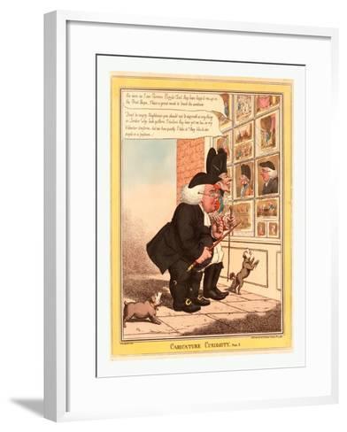 Caricature Curiosity--Framed Art Print