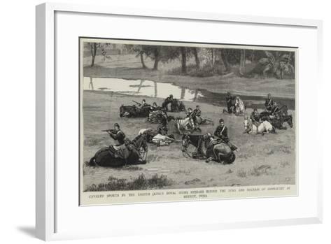 Cavalry Sports by the Eighth (King's Royal Irish) Hussars before the Duke and Duchess of Connaught--Framed Art Print