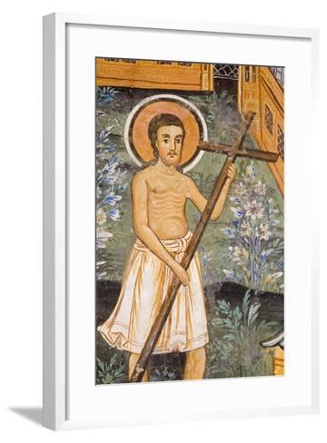 Christ Carrying Cross--Framed Art Print