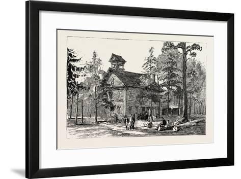 Christ Church and Public School--Framed Art Print