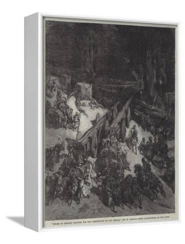 Cedars of Lebanon Destined for the Construction of the Temple--Framed Canvas Print