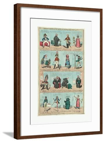 Characters in the New Piece Now Poforming at the Theatre Royal Cotten Garden 1820--Framed Art Print
