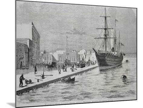 British Merchant Ship Simla Arriving at the Port of Brindisi--Mounted Giclee Print