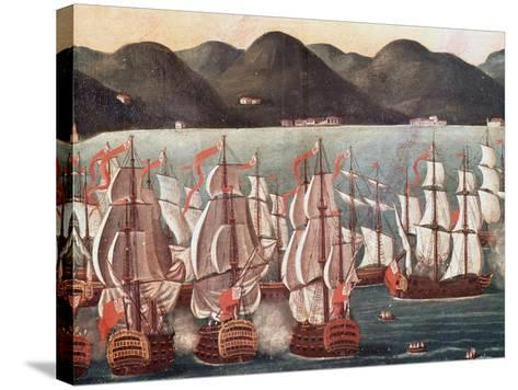 British Ships in Bay of Rio De Janeiro--Stretched Canvas Print