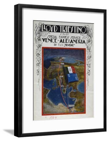 Brochure for Venice to Alexandria Cruise on Board Lloyd Company Ship--Framed Art Print