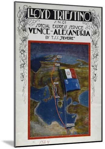 Brochure for Venice to Alexandria Cruise on Board Lloyd Company Ship--Mounted Giclee Print