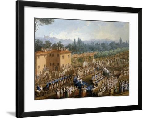 Celebration at Farmsteads in Honor of Ferdinand Iii--Framed Art Print