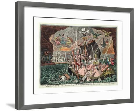 Charon's Boat or the Ghosts of All the Talents Taking their Last Voyage--Framed Art Print