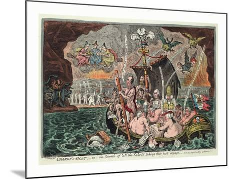 Charon's Boat or the Ghosts of All the Talents Taking their Last Voyage--Mounted Giclee Print
