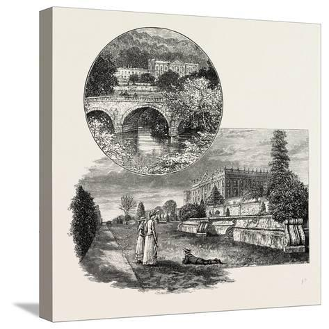 Chatsworth House Is a Stately Home in North Derbyshire--Stretched Canvas Print